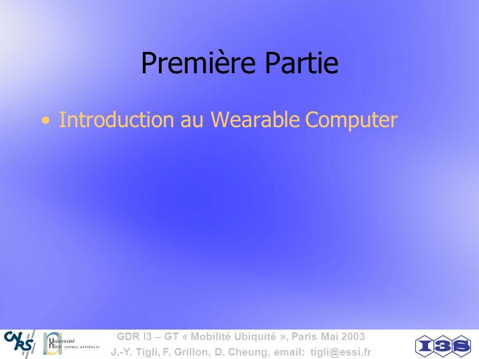 Première Partie Introduction au Wearable Computer