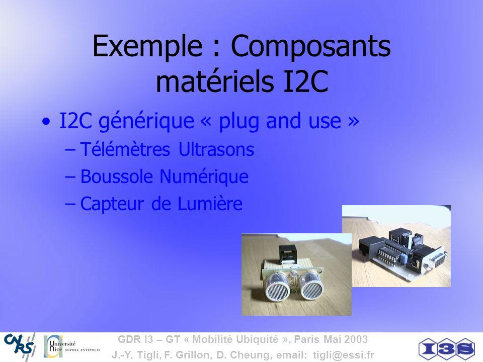 Exemple : Composants matériels I2C