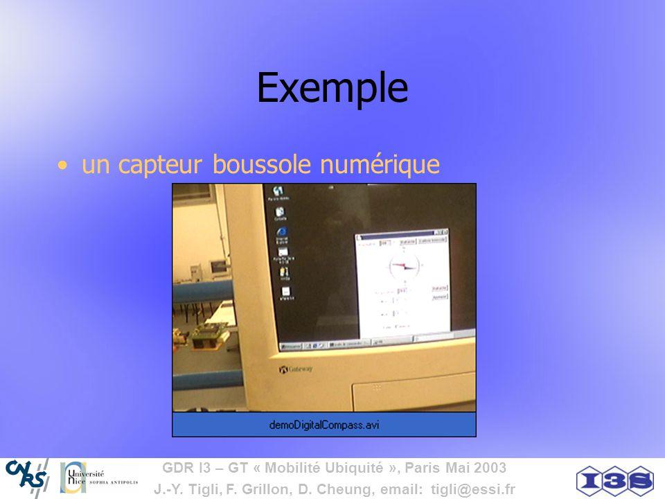 Exemple un capteur boussole numérique