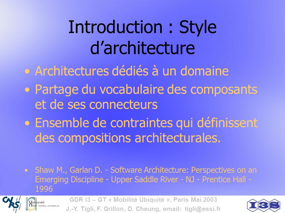 Introduction : Style d'architecture