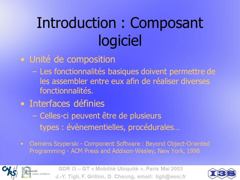 Introduction : Composant logiciel