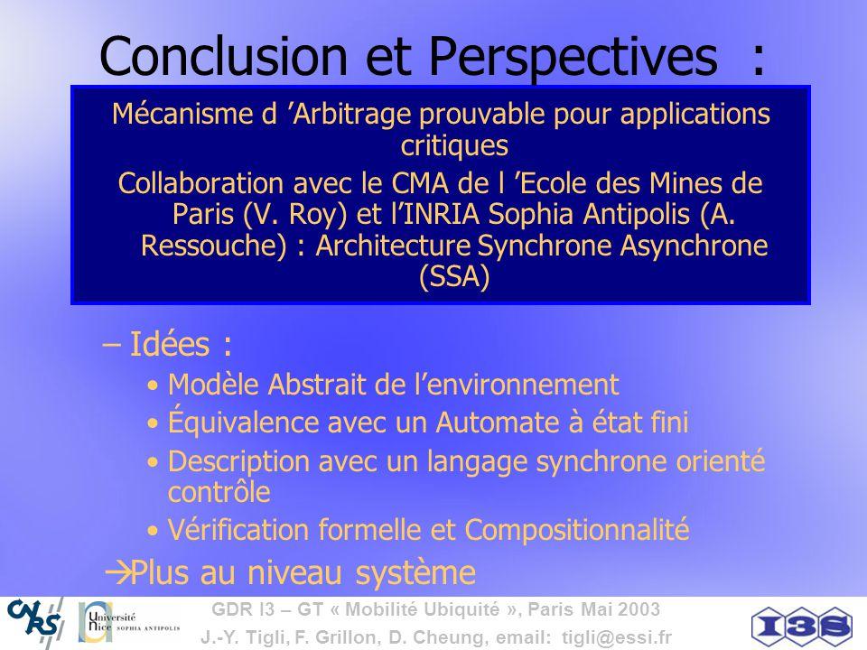 Conclusion et Perspectives :