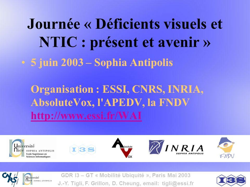 Journée « Déficients visuels et NTIC : présent et avenir »