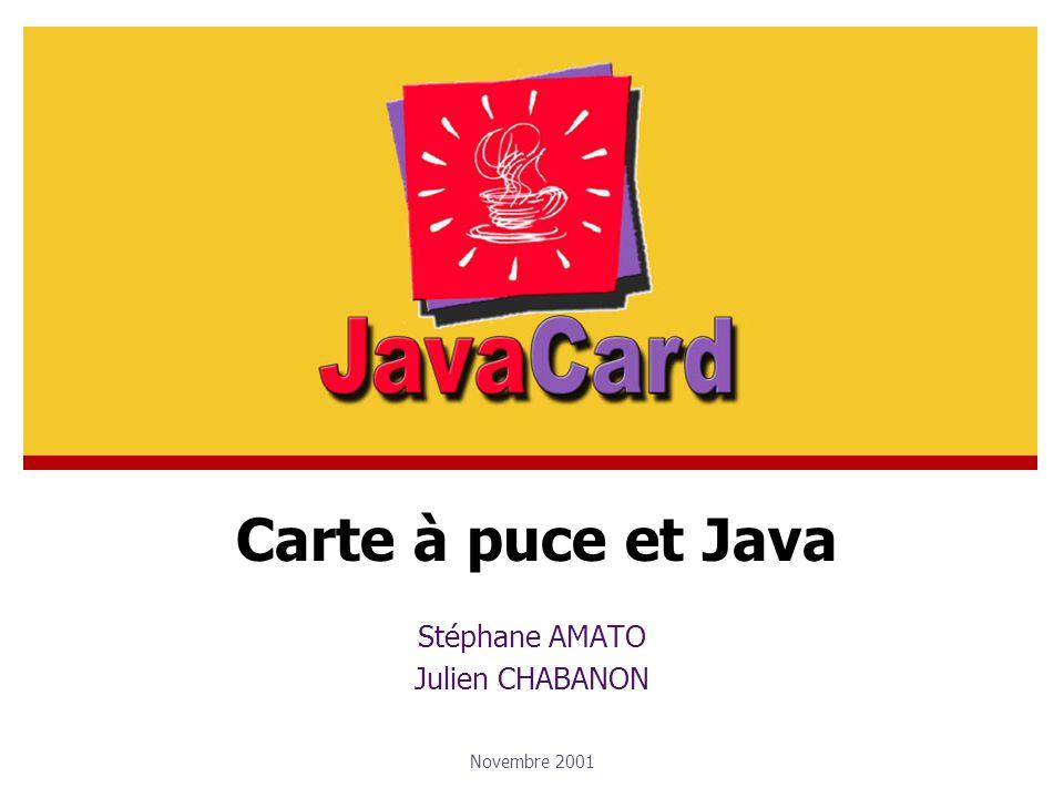 Stéphane AMATO Julien CHABANON Novembre 2001