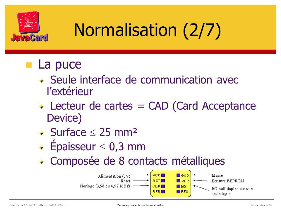 Normalisation (2/7) La puce