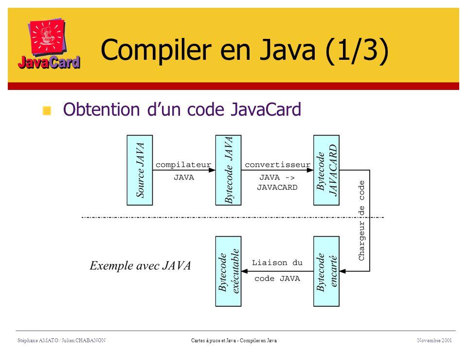 Compiler en Java (1/3) Obtention d'un code JavaCard