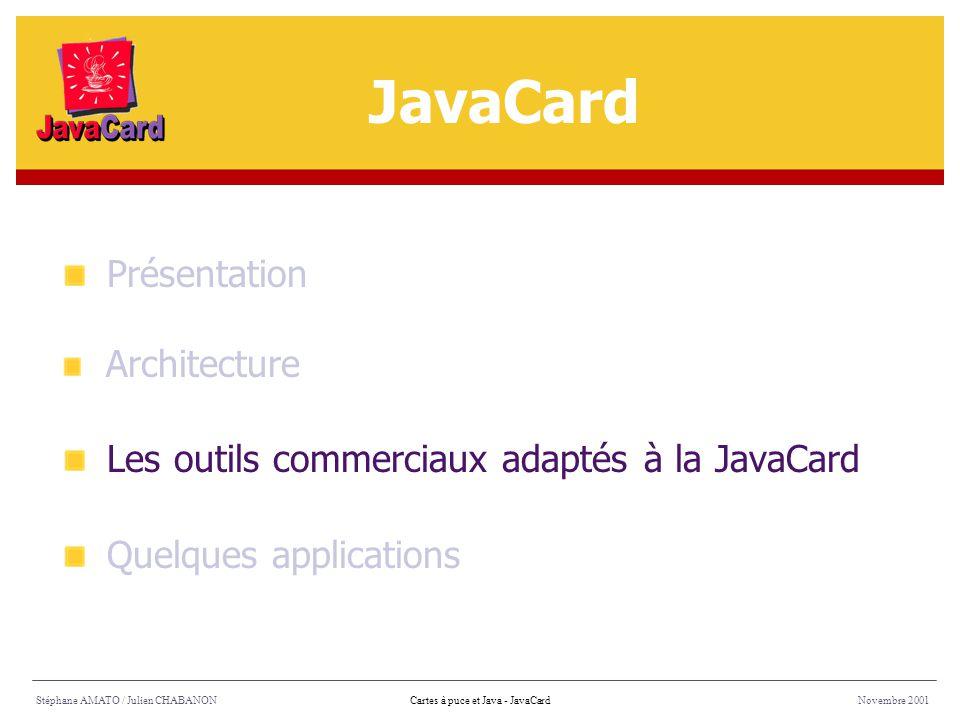 JavaCard Présentation Les outils commerciaux adaptés à la JavaCard