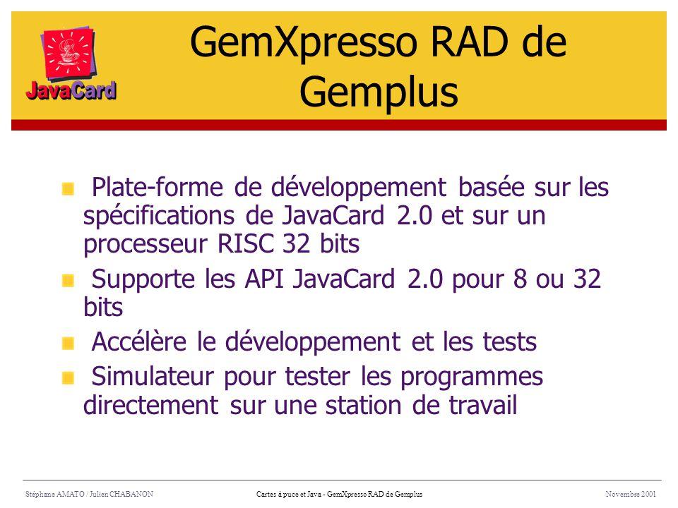 GemXpresso RAD de Gemplus