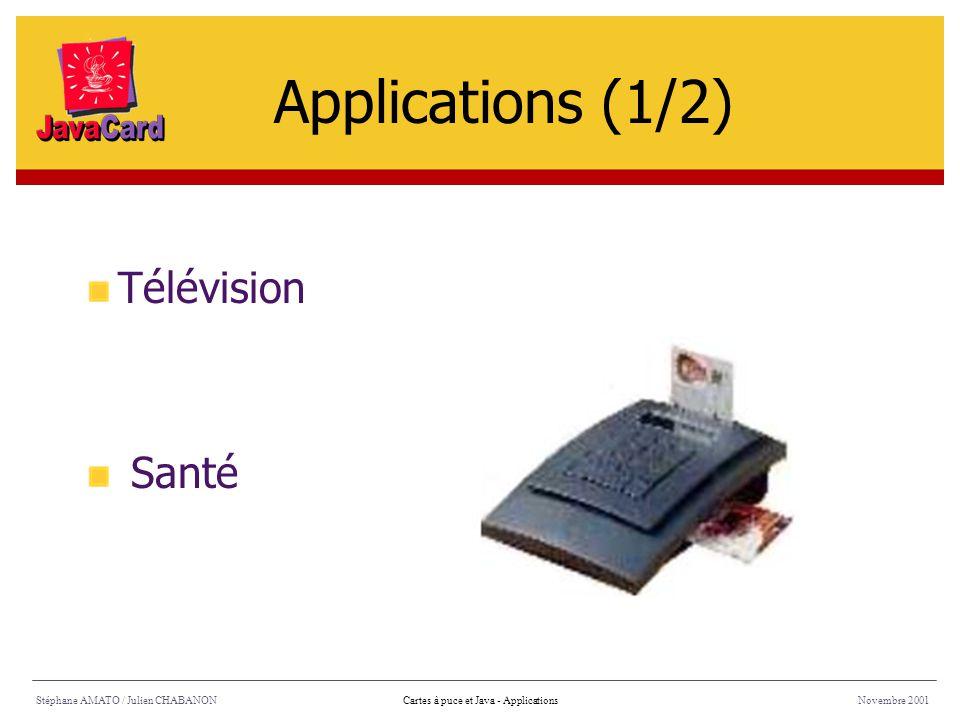 Applications (1/2) Télévision Santé Stéphane AMATO / Julien CHABANON