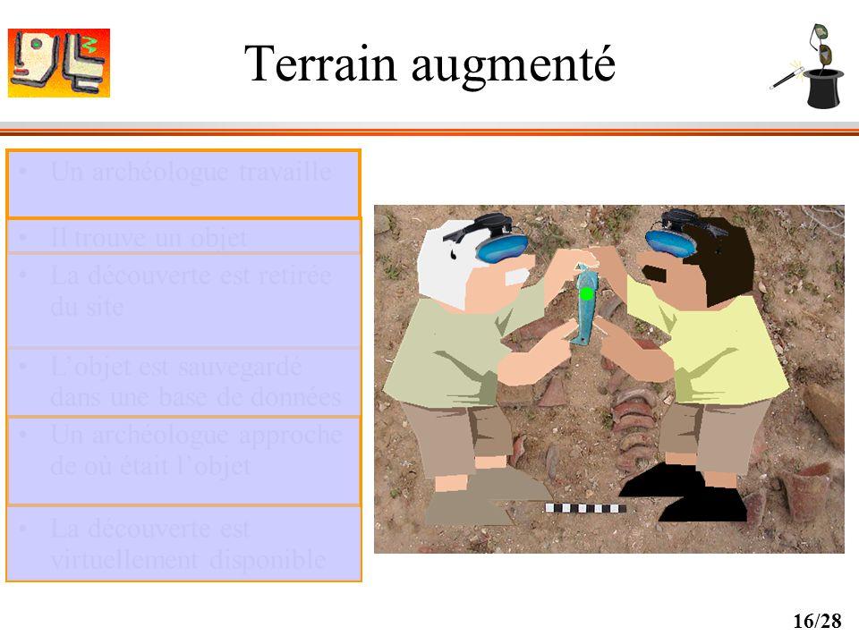 Terrain augmenté Un archéologue travaille Il trouve un objet
