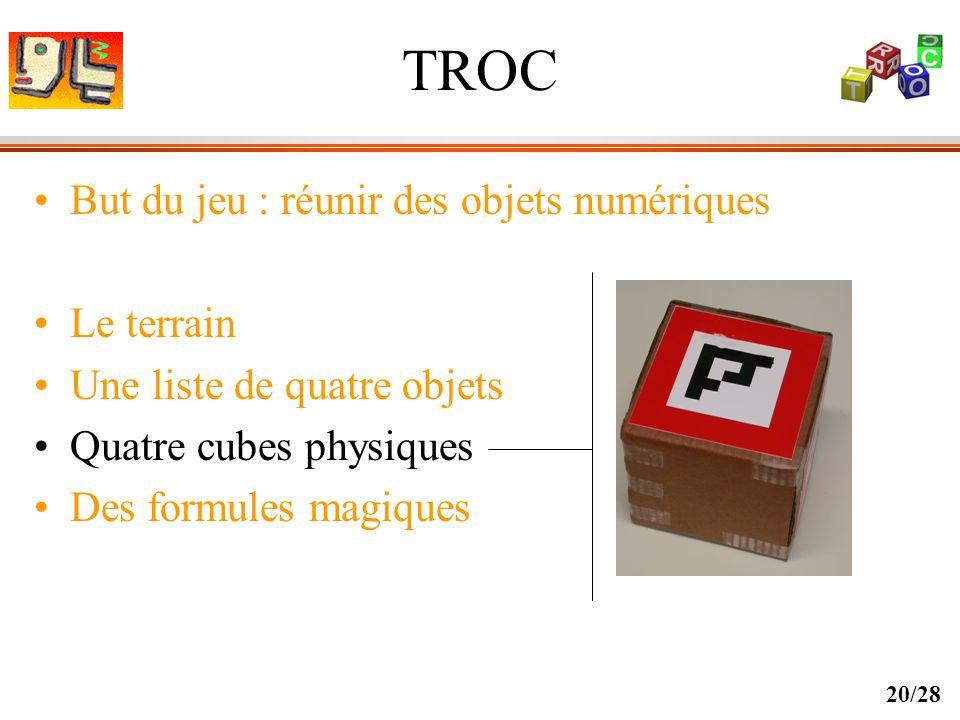 TROC But du jeu : réunir des objets numériques Le terrain