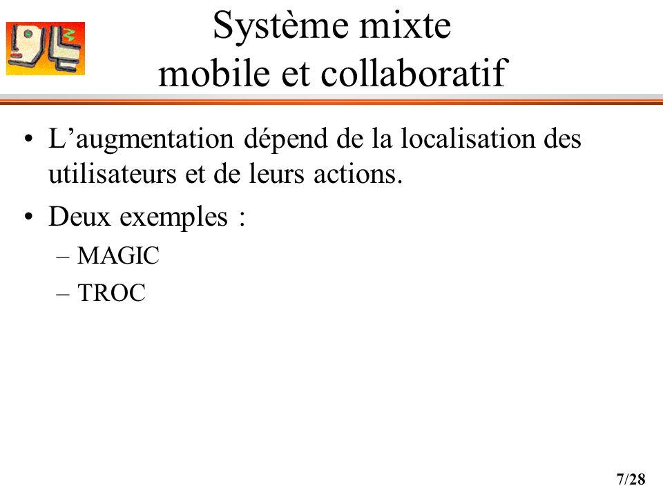 Système mixte mobile et collaboratif