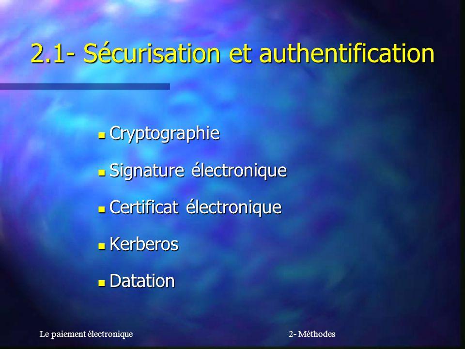 2.1- Sécurisation et authentification