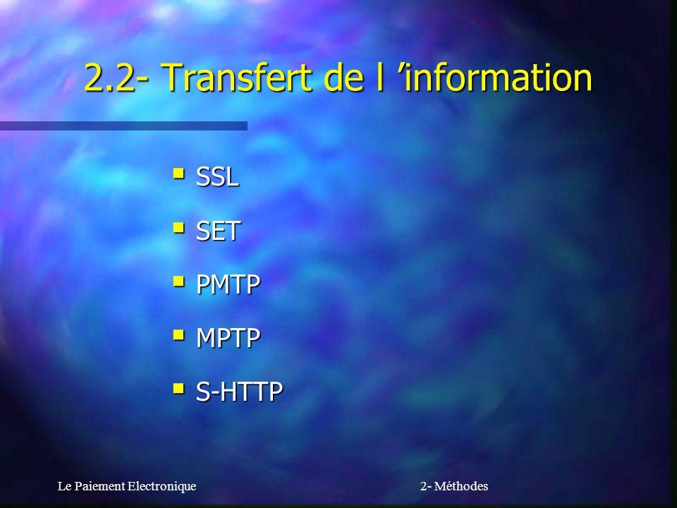 2.2- Transfert de l 'information