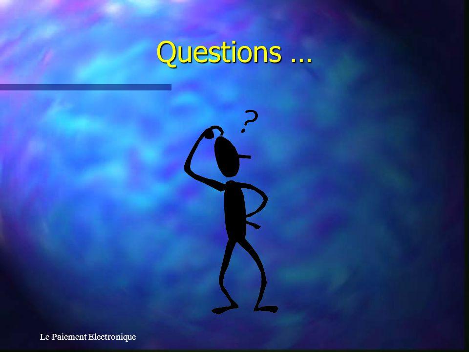 Questions … Le Paiement Electronique