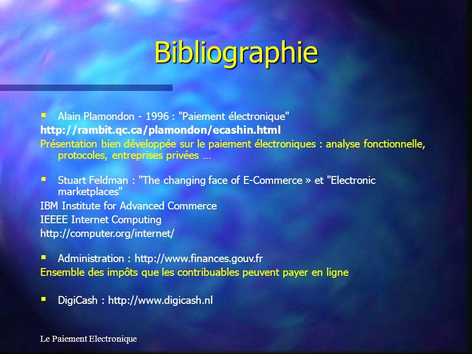 Bibliographie Alain Plamondon - 1996 : Paiement électronique