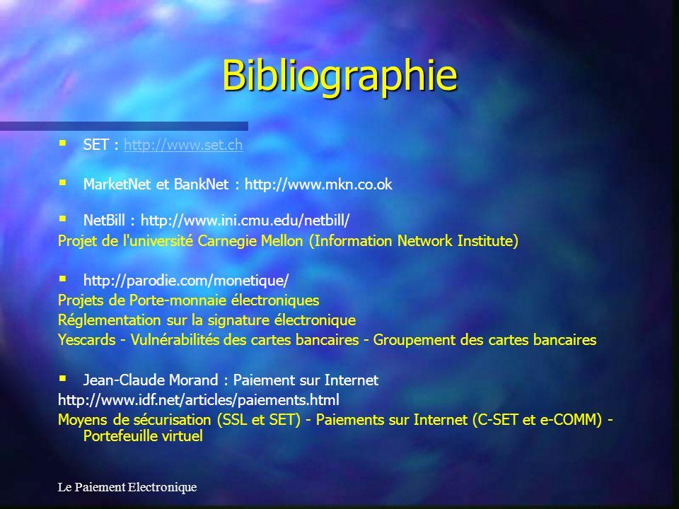 Bibliographie SET : http://www.set.ch