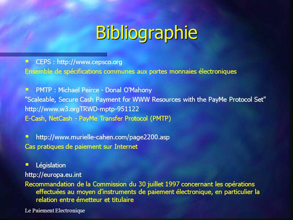 Bibliographie CEPS : http://www.cepsco.org