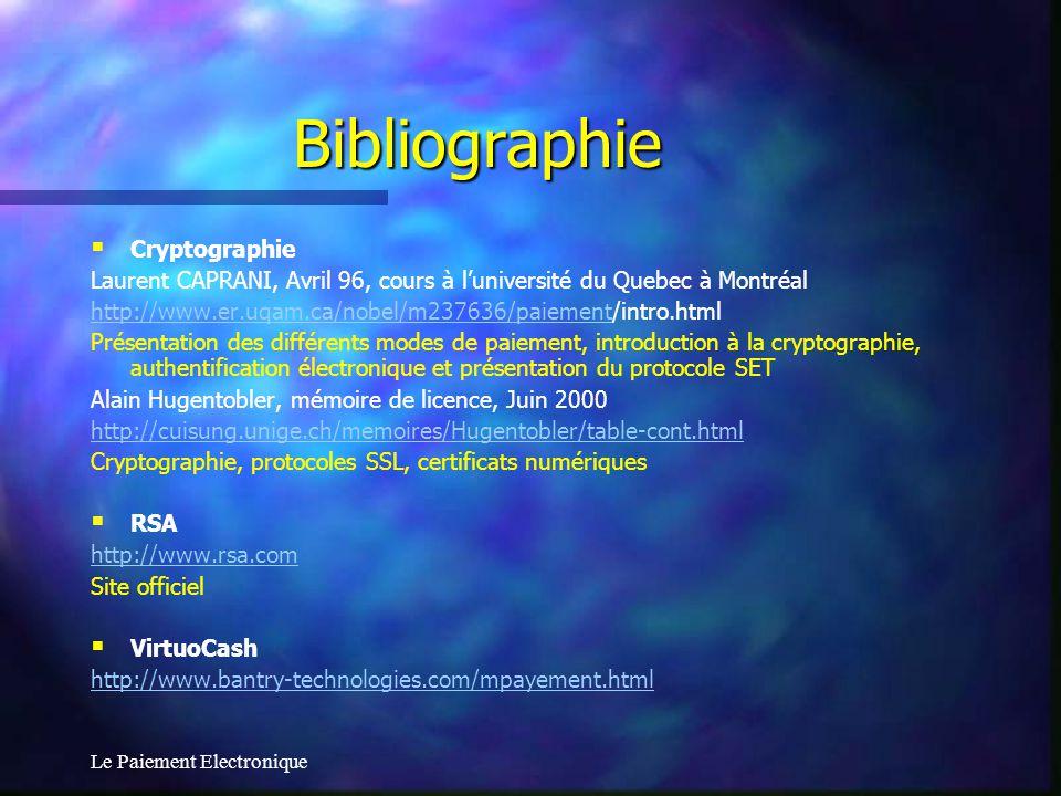 Bibliographie Cryptographie