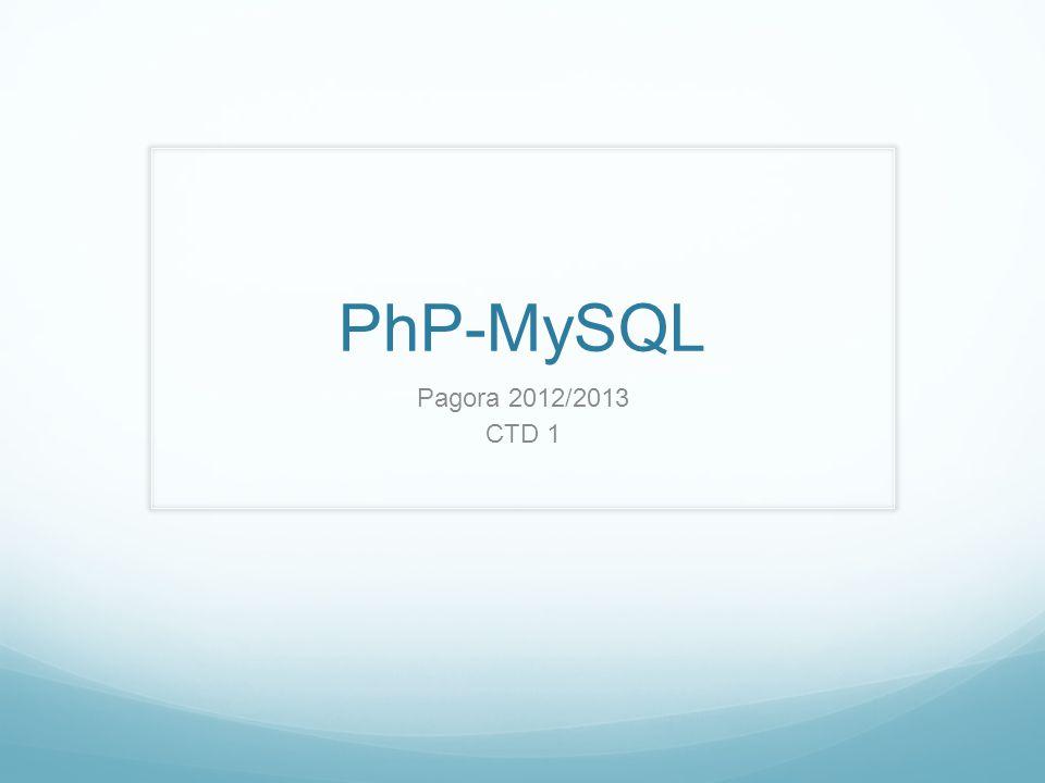 PhP-MySQL Pagora 2012/2013 CTD 1 - Presentation de moi ^^