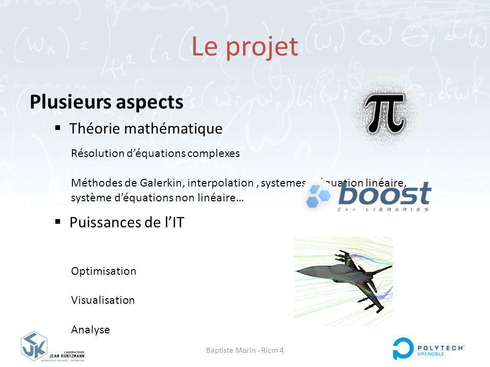 Le projet Plusieurs aspects Théorie mathématique Puissances de l'IT