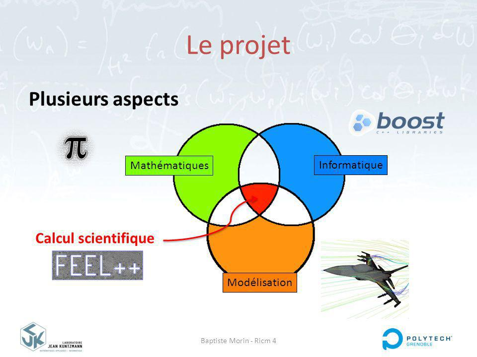 Le projet Plusieurs aspects Calcul scientifique Mathématiques