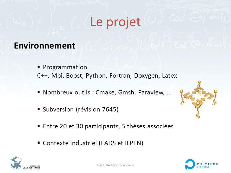 Le projet Environnement Programmation