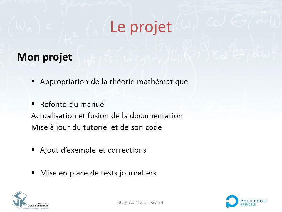Le projet Mon projet Appropriation de la théorie mathématique