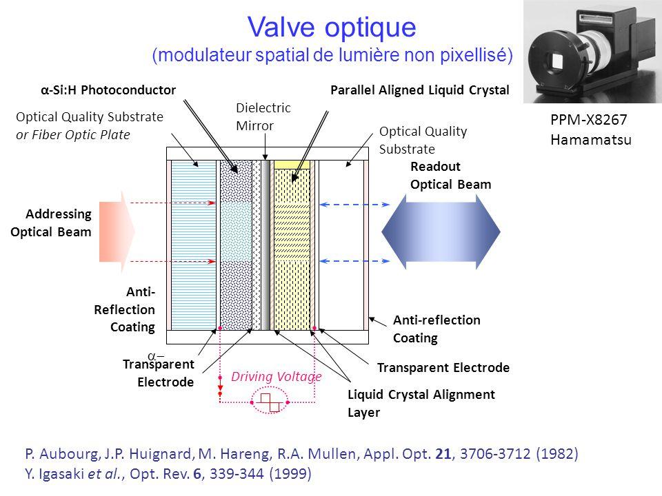 Valve optique (modulateur spatial de lumière non pixellisé) PPM-X8267