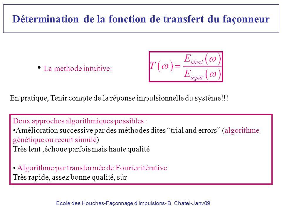 Détermination de la fonction de transfert du façonneur