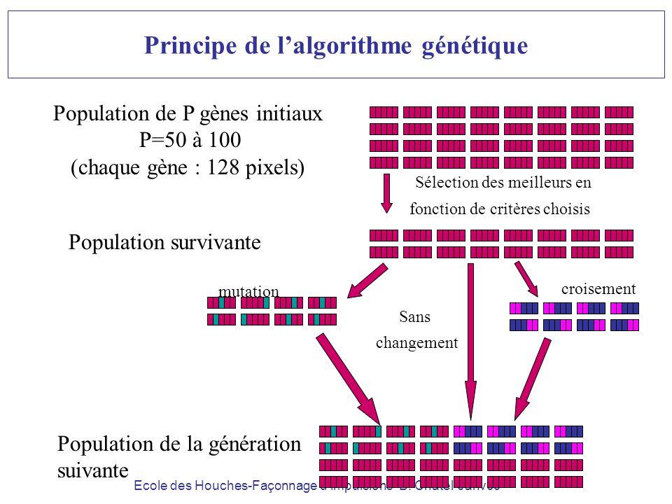 Principe de l'algorithme génétique