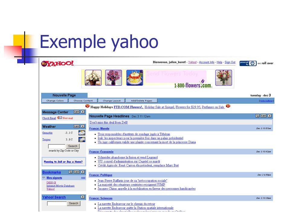 Exemple yahoo