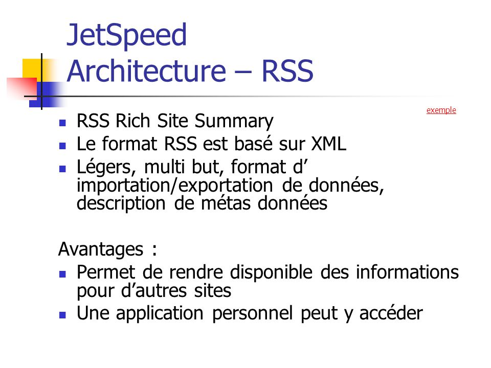 JetSpeed Architecture – RSS