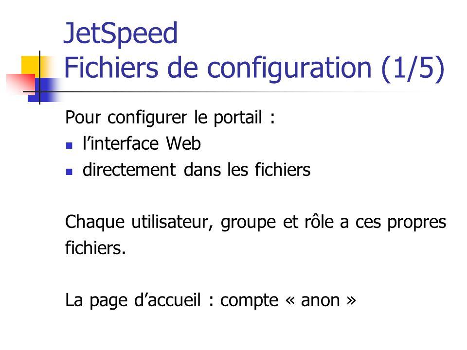 JetSpeed Fichiers de configuration (1/5)