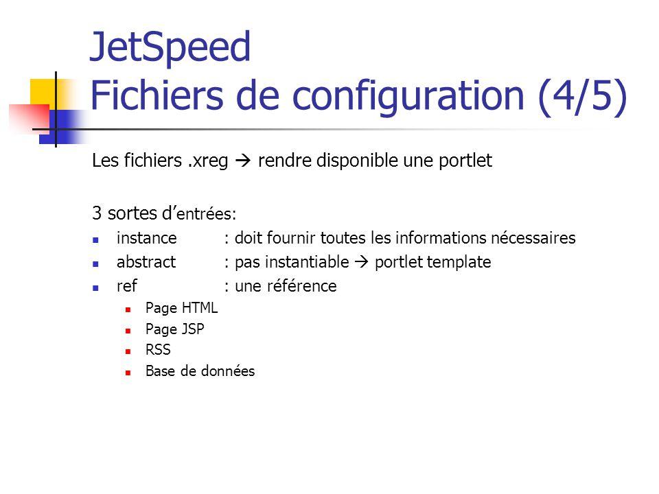 JetSpeed Fichiers de configuration (4/5)