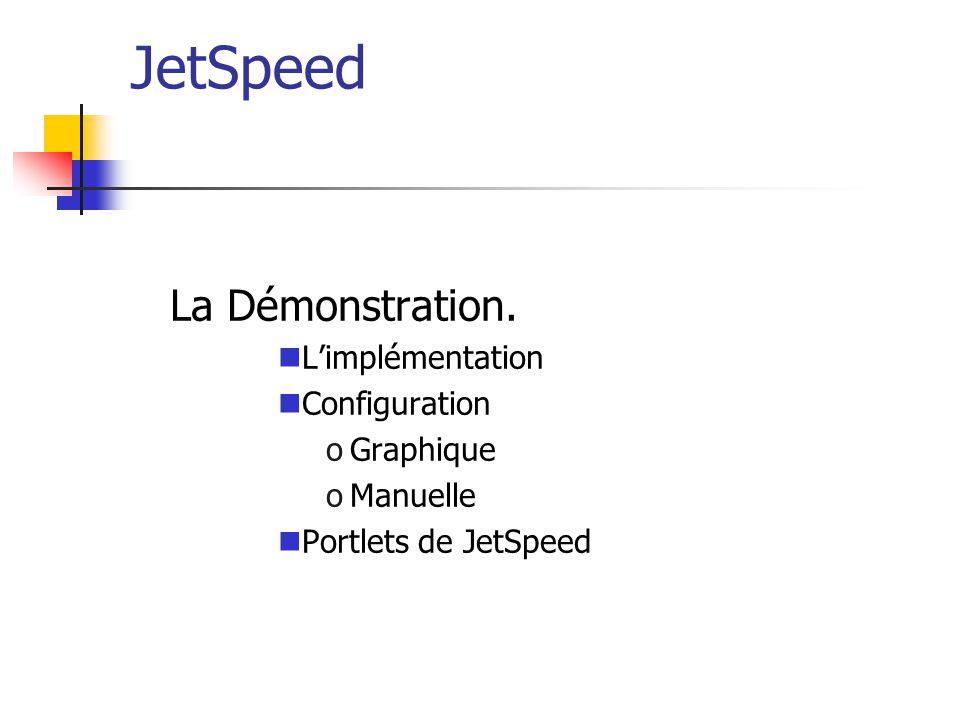 JetSpeed La Démonstration. L'implémentation Configuration Graphique