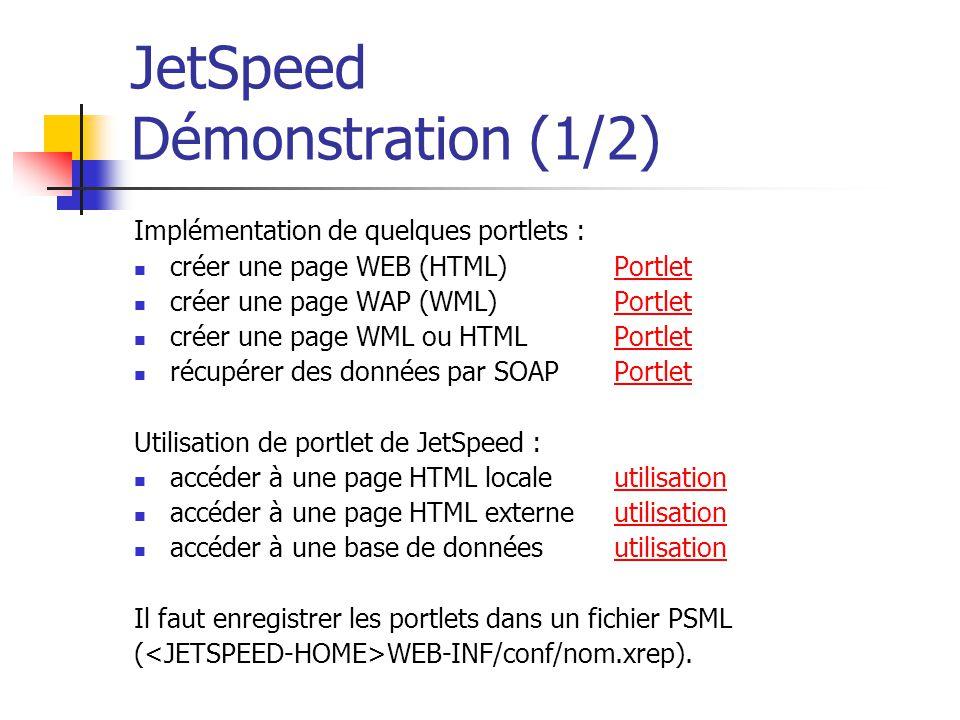 JetSpeed Démonstration (1/2)