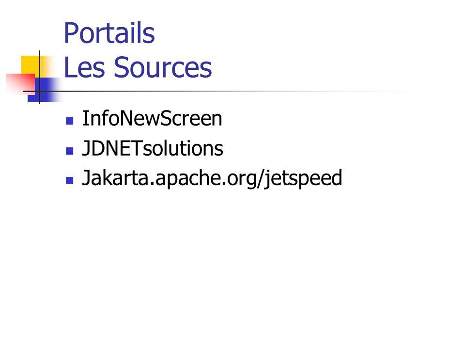 Portails Les Sources InfoNewScreen JDNETsolutions