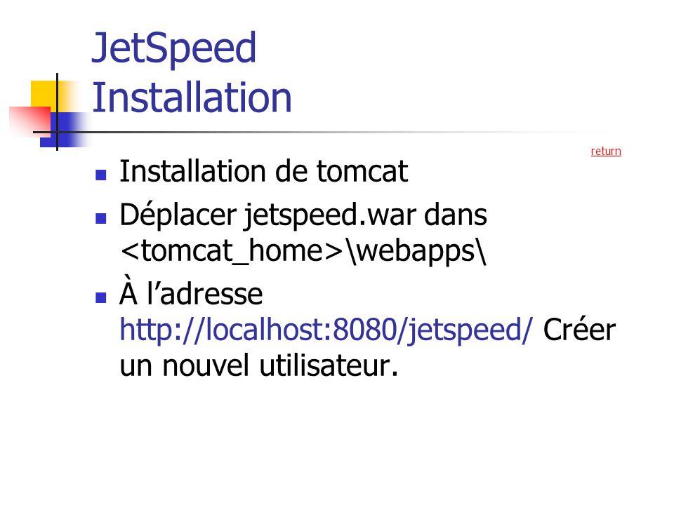 JetSpeed Installation