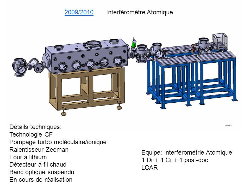 2009/2010 Interféromètre Atomique