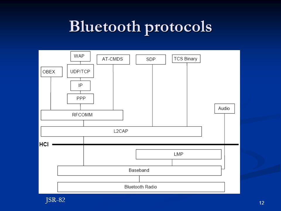 Bluetooth protocols JSR-82