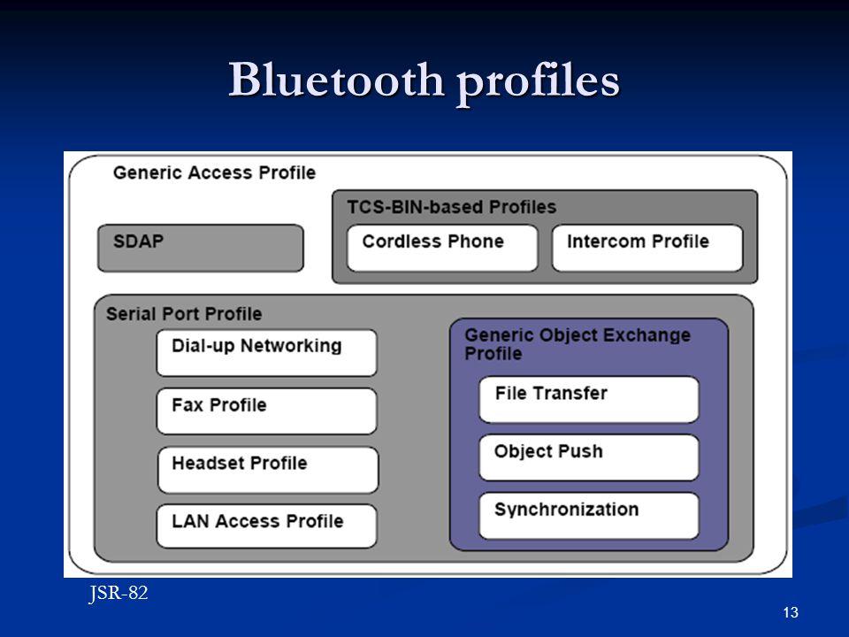 Bluetooth profiles JSR-82