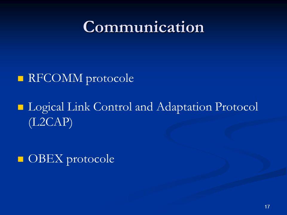 Communication RFCOMM protocole