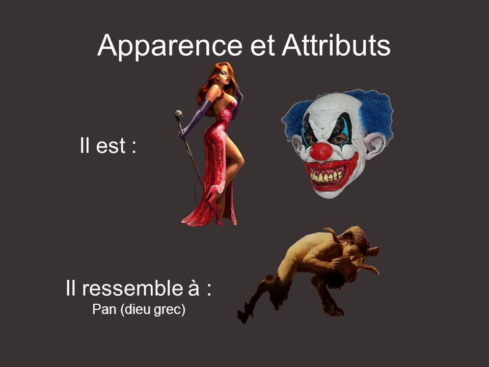 Apparence et Attributs
