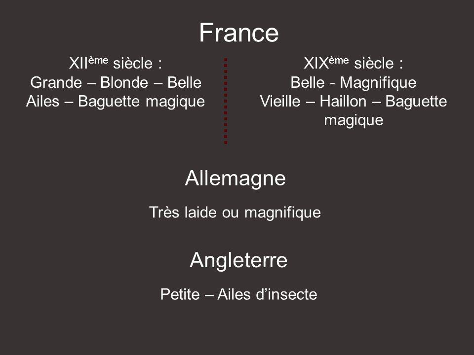France Allemagne Angleterre XIIème siècle : Grande – Blonde – Belle