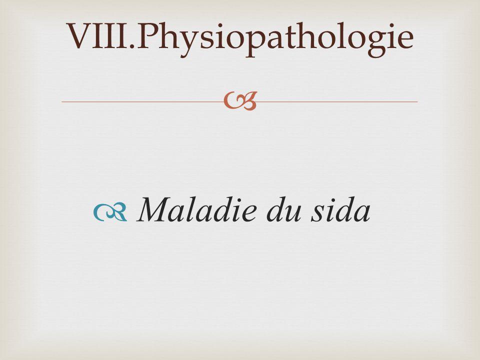 Physiopathologie Maladie du sida