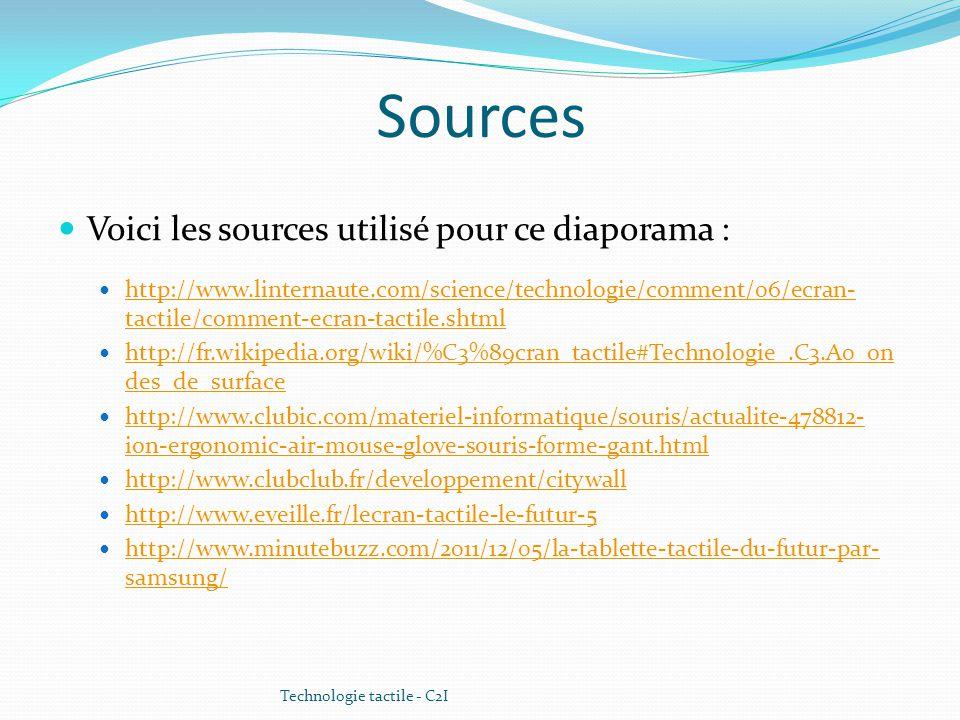 Sources Voici les sources utilisé pour ce diaporama :