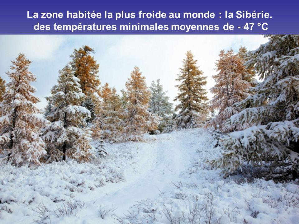 La zone habitée la plus froide au monde : la Sibérie