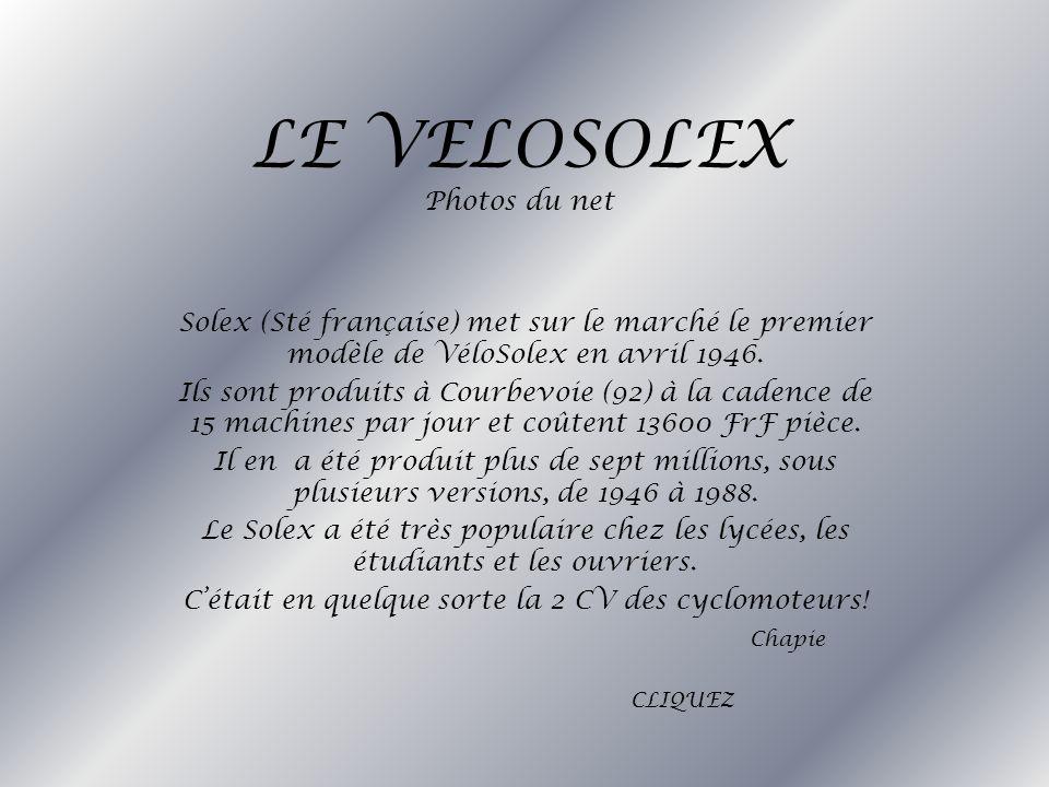 LE VELOSOLEX Photos du net