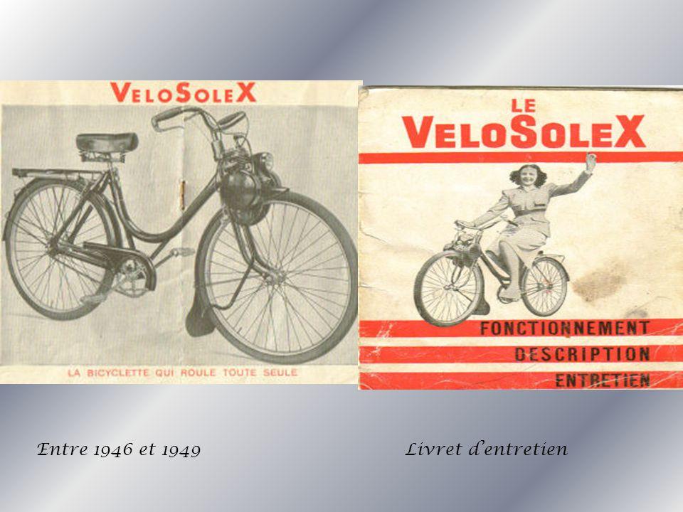 Entre 1946 et 1949 Livret d'entretien